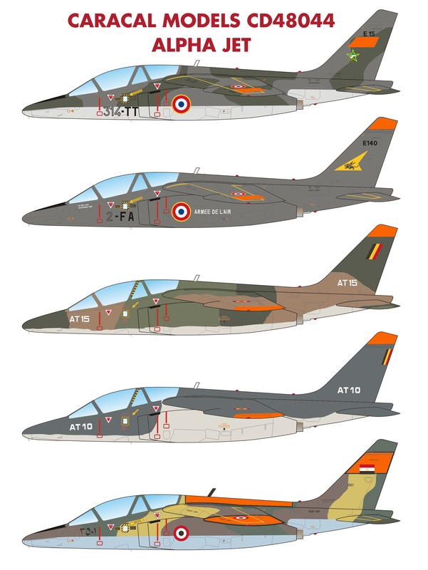Caracal Models CD48044 Alpha Jet